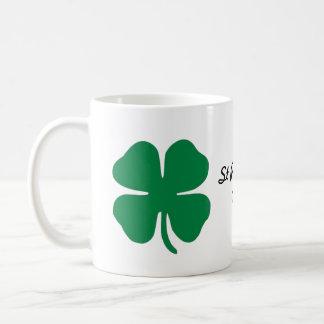 St Patrick's Day four leaf clover Basic White Mug