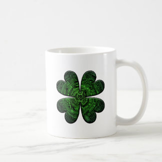 St. Patrick's Day Four Leaf Clover/Shamrock Celtic Coffee Mug