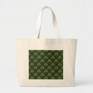 St. Patrick's Day Four-Leaf Clover Tiled Pattern Bag