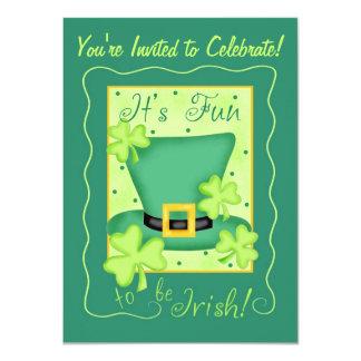 St. Patrick's Day Fun to be Irish Party 11 Cm X 16 Cm Invitation Card
