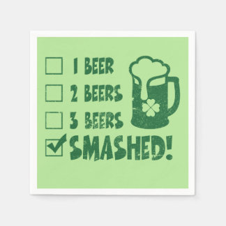 St Patrick's Day Funny Beer Drinking Disposable Serviette