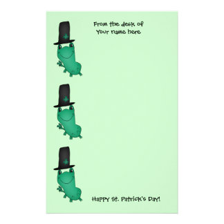 St Patricks Day funny frog Personalised Stationery
