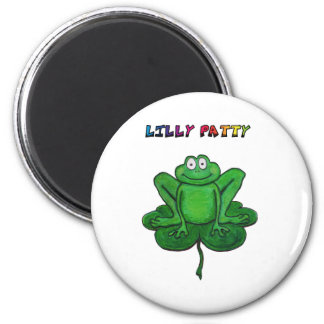 St Patrick's Day Funny Lilly Patty Pad Frog Magnet