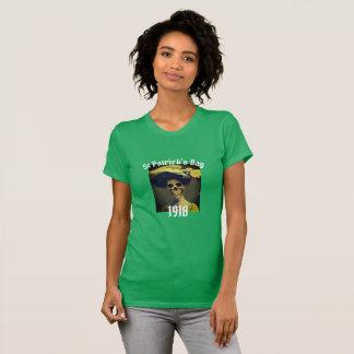 St Patrick's Day Funny skeleton LadiesT-shirt T-Shirt