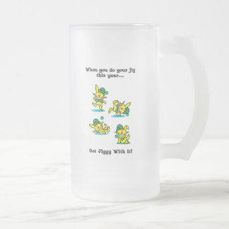 St Patrick's Day | Get Jiggy With It Frosted Glass Beer Mug