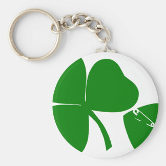 St Patrick's Day - Get Lucky 3 + 1 leaves = 4 Basic Round Button Key Ring