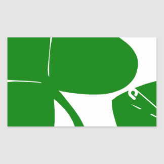 St Patrick's Day - Get Lucky 3 + 1 leaves = 4 Rectangular Sticker