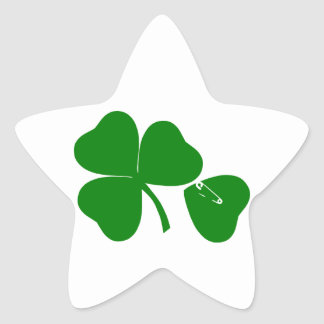 St Patrick's Day - Get Lucky 3 + 1 leaves = 4 Star Sticker