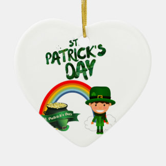 St Patrick's Day gifts Ceramic Ornament