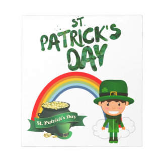 St Patrick's Day gifts Notepad