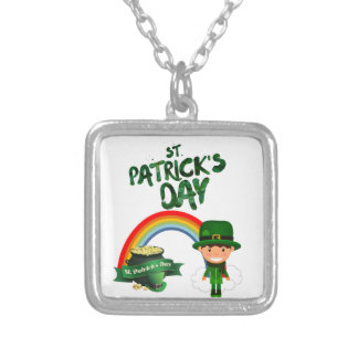 St Patrick's Day gifts Silver Plated Necklace