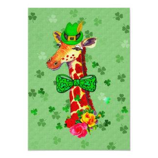 St. Patrick's Day Giraffe 13 Cm X 18 Cm Invitation Card