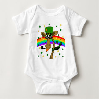 St. Patricks day giraffe Baby Bodysuit