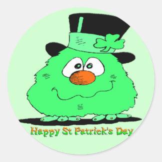 St Patrick's Day Gnome Round Sticker
