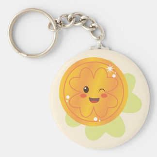 St. Patrick's Day Gold Coin Basic Round Button Key Ring