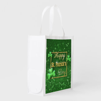 St. Patrick's Day Gold Shamrock - Reusable Bag