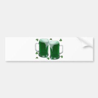 St Patrick's Day Green Beer Bumper Sticker