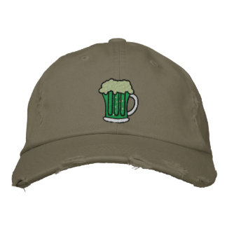 St. Patrick's Day Green Beer Embroidered Caps