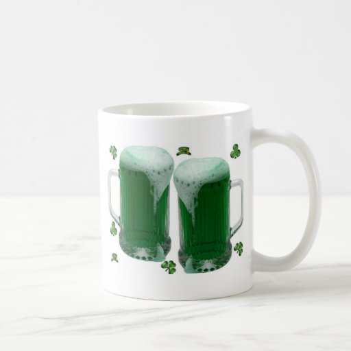 St Patrick's Day Green Beer Mugs