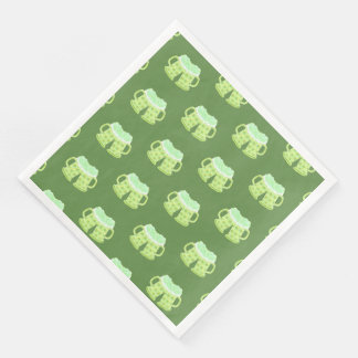 St-Patrick's Day green beers pattern paper napkins Disposable Serviette