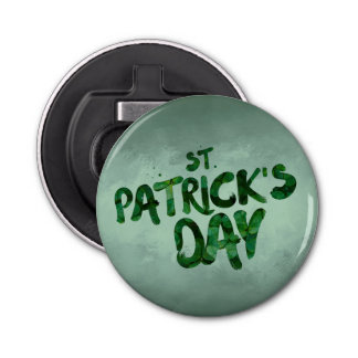 St Patrick's Day Green Clover Irish Celtic Bottle Opener