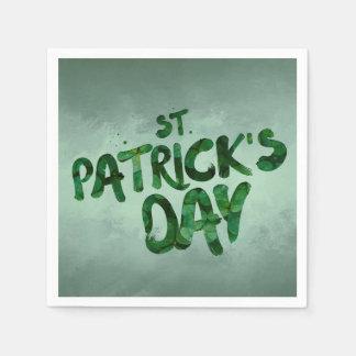 St Patrick's Day Green Clover Irish Celtic Disposable Serviettes