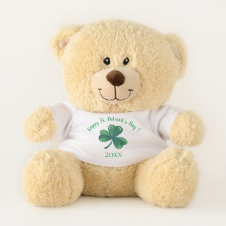 St. Patrick's Day Green Clover Personalised Teddy Bear