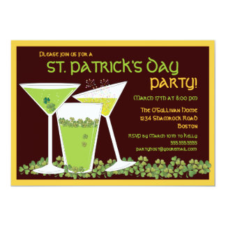 St. Patrick's Day Green Cocktails & Beer Card