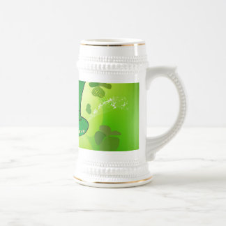 St. Patrick's Day, green hat with horseshoe Beer Steins