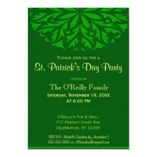 St Patrick's Day | Green Ornamental Card