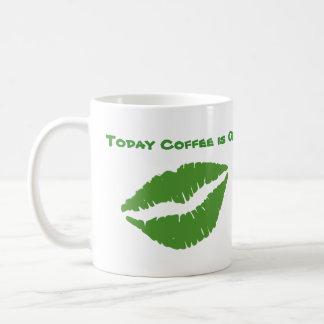 St Patrick's Day Green Paddy Kiss Basic White Mug