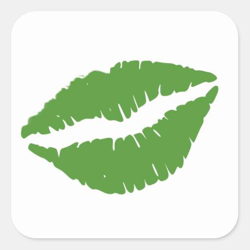 St Patrick's Day Green Paddy Kiss Sticker