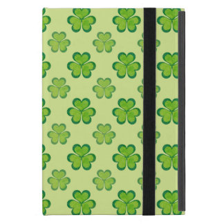 St. Patrick's Day Green Shamrocks Lucky Clovers Covers For iPad Mini