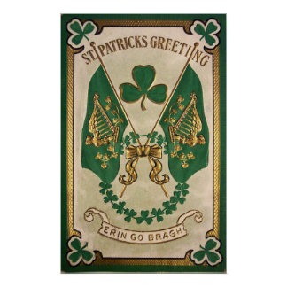 St. Patricks Day Greeting Poster