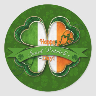 St. Patrick's Day - Happy St. Patrick's Day Classic Round Sticker