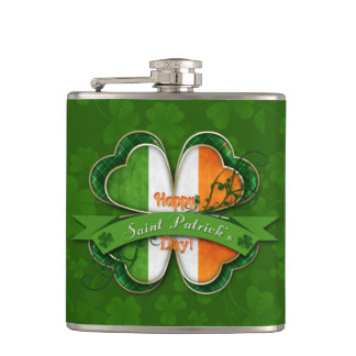 St. Patrick's Day - Happy St. Patrick's Day Hip Flask