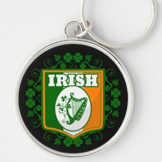 St Patrick's Day Harp Key Ring