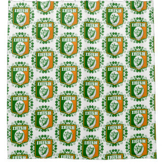 St Patrick's Day Harp Shower Curtain