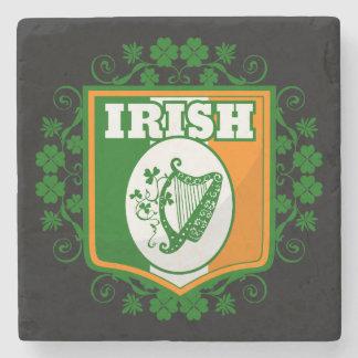 St Patrick's Day Harp Stone Coaster