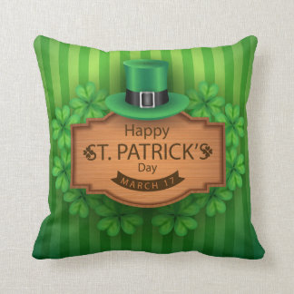 St. Patrick's Day - Hat & Clovers Cushion