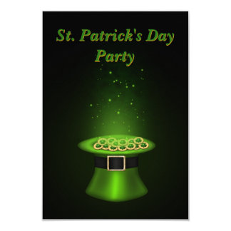 St. Patrick's Day Hat Coins - Invitation Card