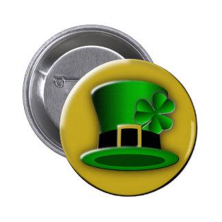 St Patricks Day Hat Round Button Pins