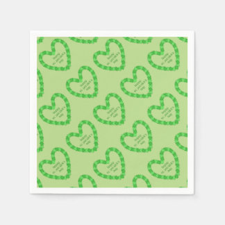 St Patrick's Day Heart Disposable Napkin