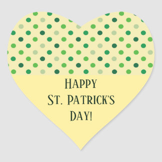 St Patricks Day Heart Heart Sticker