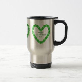 St Patrick's Day Heart Travel Mug