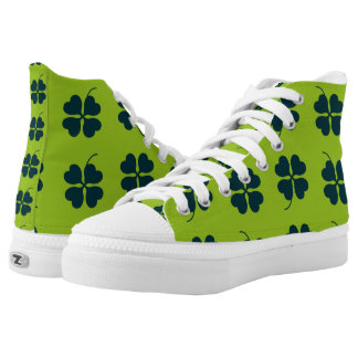 St. Patrick's Day High Top Shoes Printed Shoes