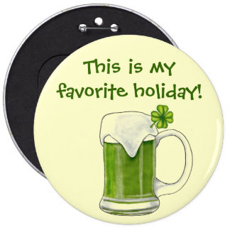 St. Patrick's Day Holiday Button