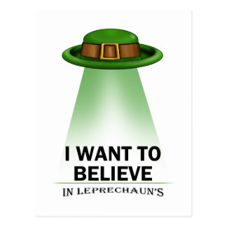 st. patrick's day, I want to believe Postcards