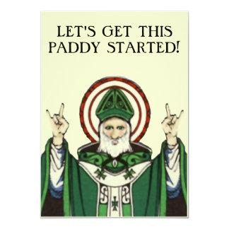"ST. PATRICK'S DAY INVITATIONS 5"" X 7"" INVITATION CARD"