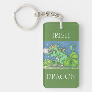 ST. PATRICK'S DAY IRISH BABY DRAGON KEYCHAIN